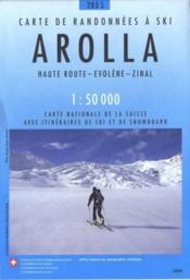 Arolla ; Haute Route, Evolène, Zinal ; carte de randonnées à ski - Couverture - Format classique