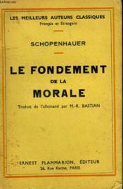 Le Fondement De La Morale. - Couverture - Format classique