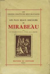 Les Plus Beaux Discours De Mirabeau - Couverture - Format classique