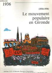 Le Mouvement Populaire En Gironde - Couverture - Format classique