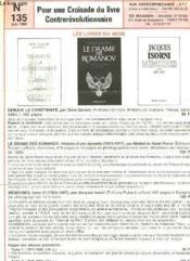 Pour Une Croisade Du Livre Contrerevolutionnaire - N°135 - Couverture - Format classique