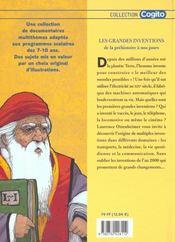 Grandes Inventions (Les) - 4ème de couverture - Format classique