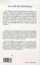 Le Noel De Petit Roux - 4ème de couverture - Format classique