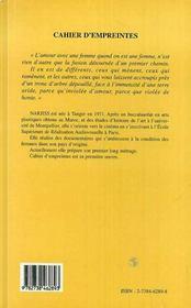 Cahier D'Empreintes, Lettre A Toi - 4ème de couverture - Format classique