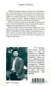 Images du silence ; pensée et art chinois - 4ème de couverture - Format classique