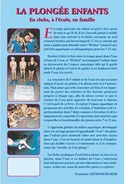 La plongée ebfabrs ; en clubs, à l'école, en famille - 4ème de couverture - Format classique