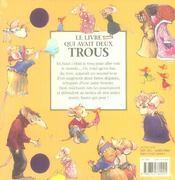 Le livre qui avait deux trous - 4ème de couverture - Format classique