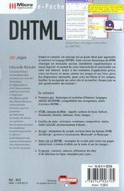 Dhtml - 4ème de couverture - Format classique