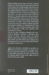 Plongeon à bonifacio ; une nouvelle enquête de delphine mailly - 4ème de couverture - Format classique