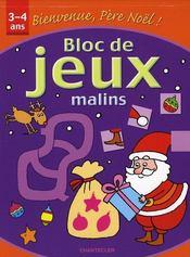 Bienvenue, père Noël ! bloc de jeux malins - Intérieur - Format classique