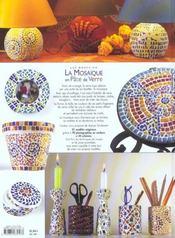 Les bases de la mosaïque en pâte de verre - 4ème de couverture - Format classique