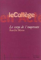 Corps De L'Empreinte (Le) - Intérieur - Format classique