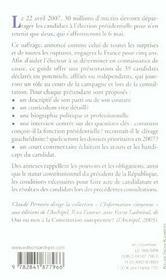 Elysee 2007 : le guide de la presidentielle - 4ème de couverture - Format classique