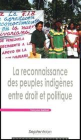La reconnaissance des peuples indigènes entre droit et politique - Couverture - Format classique