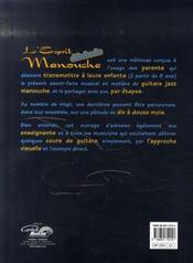 L'esprit manouche débutant - 4ème de couverture - Format classique
