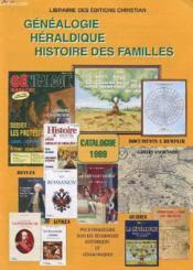 Lot De 2 Catalogue - Librairie Des Editions Christian - Genealogie - Heraldique - Histoires Des Familles - Couverture - Format classique