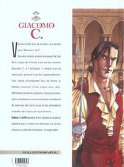 Giacomo C. t.15 ; la chanson des guenilles - 4ème de couverture - Format classique
