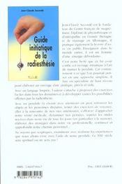 Guide Initiatique De La Radiesthesie - 4ème de couverture - Format classique