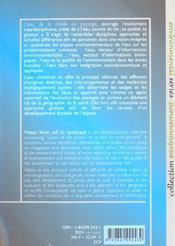 L'eau, de la cellule au paysage - 4ème de couverture - Format classique