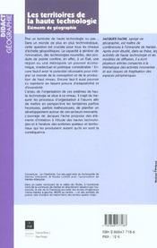 Territoires De La Haute Technologie - 4ème de couverture - Format classique