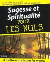 Sagesse et spiritualité pour les nuls - Intérieur - Format classique