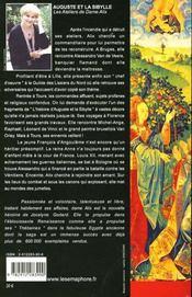 Les ateliers de dame alix t.3 ; auguste et la sibylle - 4ème de couverture - Format classique
