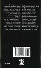 Sarmiento facundo catedra - 4ème de couverture - Format classique