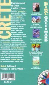 Crete - 4ème de couverture - Format classique