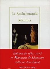 Maximes - Intérieur - Format classique