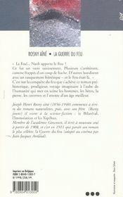 Guerre Du Feu (La) - 4ème de couverture - Format classique