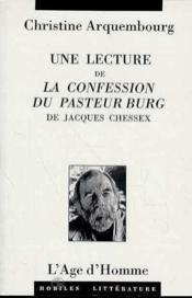 Lecture De La Confession - Couverture - Format classique