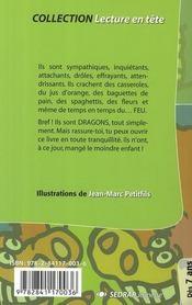 LECTURE EN TETE ; histoires de dragons - 4ème de couverture - Format classique