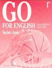 Go For English 1re / Livre Du Professeur (Afrique Centrale) - Couverture - Format classique
