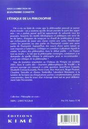 Ethique De La Philosophie (L') - 4ème de couverture - Format classique
