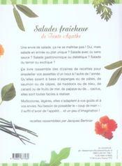 Salades Fraicheur De Tante Agathe - 4ème de couverture - Format classique