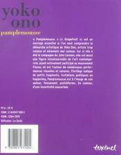 Pamplemousse - 4ème de couverture - Format classique