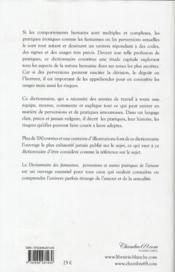 Dictionnaire des fantasmes et perversions ; et autres pratiques de l'amour - 4ème de couverture - Format classique