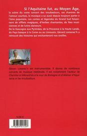La dame et le troubadour et autres contes de la musique - 4ème de couverture - Format classique