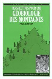 Perspectives Pour Une Geobiologie Des Montagnes - Intérieur - Format classique