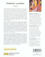 Profession : Consultant 4eme Edition (4e édition) - 4ème de couverture - Format classique