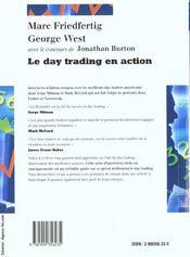 Le day trading en action - 4ème de couverture - Format classique