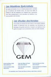 Guide Go Des 3e Cycles 2001 - 4ème de couverture - Format classique
