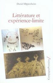 Litterature Et Experience-Limite - Intérieur - Format classique
