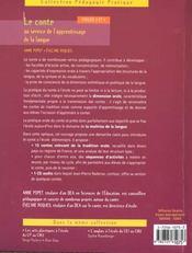 Le conte au service de l'apprentissage de la langue ; cycle 2 et 3 - 4ème de couverture - Format classique