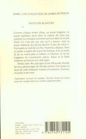 Solitudes Blanches Babel 467 - 4ème de couverture - Format classique