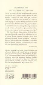 Sept Contes Du Pays D'En Face - 4ème de couverture - Format classique