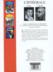 Bob Morane ; intégrale t.10 ; l'empereur et le président - 4ème de couverture - Format classique
