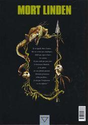 Mort Linden T.1 ; Les Peuples Jumeaux - 4ème de couverture - Format classique