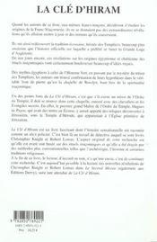 Cle D'Hiram (La) - 4ème de couverture - Format classique