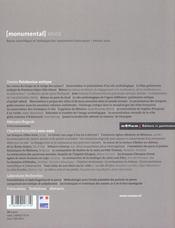 Monumental - 4ème de couverture - Format classique